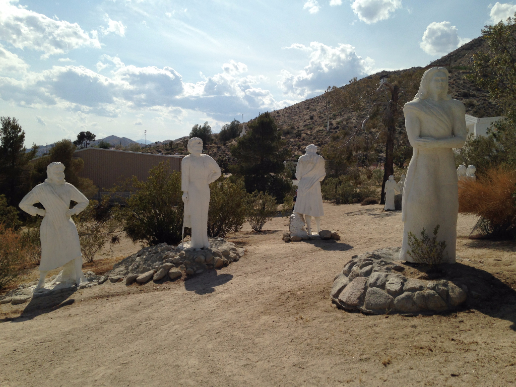 Desert Christ Park Hang With Charred Jesus While Tripping